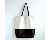 ladies large size leahter shopping bag SH-001