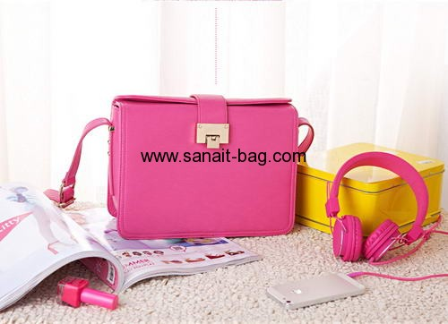 PU leather labtest fashion design shoulder bags for women WS-002