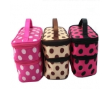 New style top selling double layers cosmetic bags CO-004