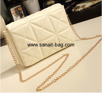 Women messenger PU leather bag with chain WM-010