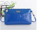 Young ladies crocodile PU handbag with butterfly decoration WM-018