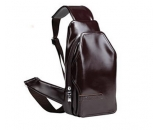 Young men genuine leather single messenger shoulder bag MM-006