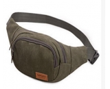 best selling men canvas sports leisure waist messenger bag MM-009
