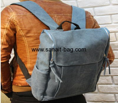 Young men canvas leisure laptop backpack MB-008