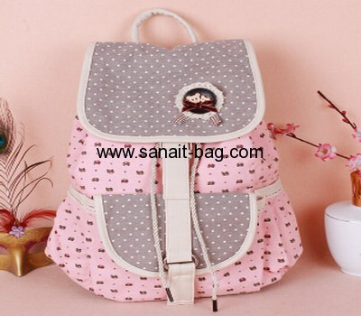 Young ladies flower canvas leisure backpack WT-014