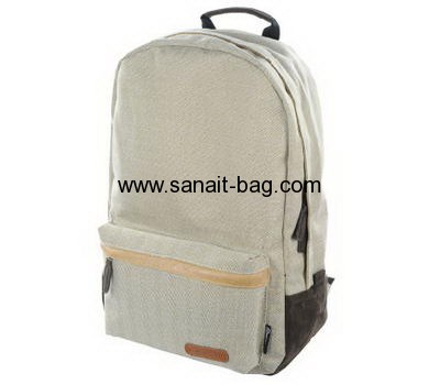Custom man jute travel backpack with laptop bag MB-018