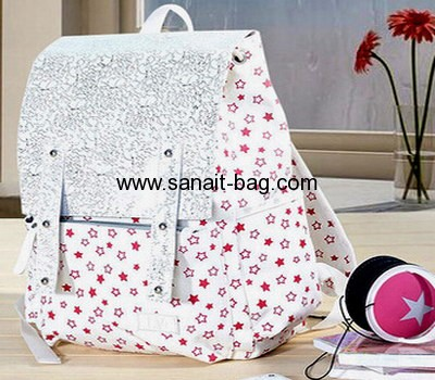 Young girls canvas schoold bag travel backpack WB-022