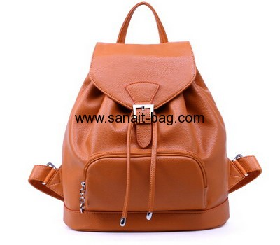 Young ladies PU leather leisure double shoulders backpack WB-026