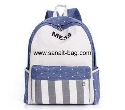 Women canvas backpack school bag WB-001