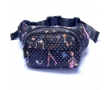 Fashion design women nylon waist bag MWB-002
