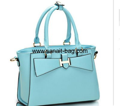 Candy cute color fashion hot sale PU handbag for ladies WT-074