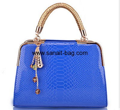 Ladies fashion design PU tote hanbag WT-076