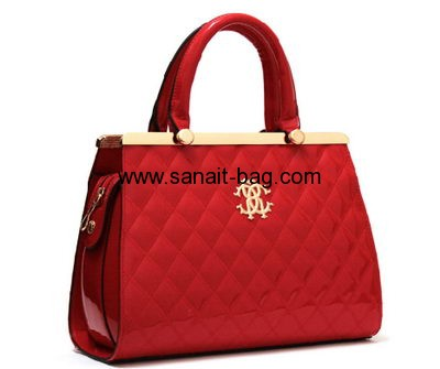 American and Europe fashion style red PU handbag for ladies WT-081