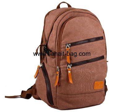 English style large size canvas school bag for boys MB-029