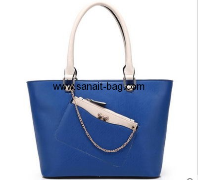 Latest fashion design top sale PU leather large size tote bag for women WT-091