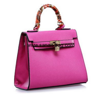 Top sale PU leather evening bag with lock for ladies WM-031
