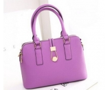 Latest fashion design genuine leather shell shape tote bag for women WT-115