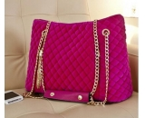 2015 new fashion design woolen cloth handbag with metal chain for ladies WT-120