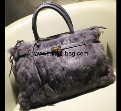 American-European fashion style cony hair handbag for ladies WT-117