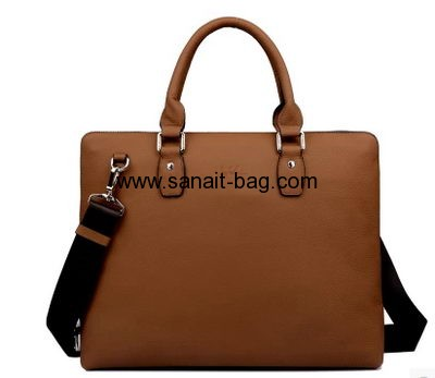 Yellow leisure genuine leather tote handbag for men MT-054