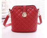 Red PU cross body messenger bag for ladies WM-045