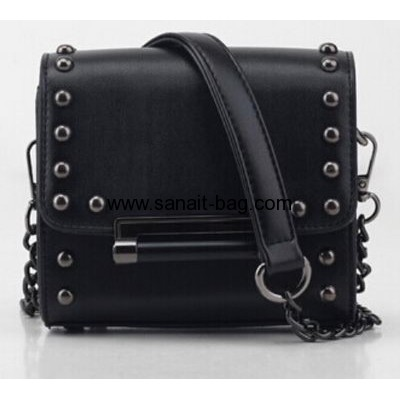PU messenger bags with rivet decoration for women WM-046