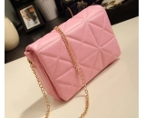Fashion design PU leather metal chain strap messenger bag for young lady WM-052