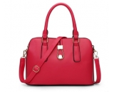 Ladies fashion red PU leather  handbag for spring and summer WT-165