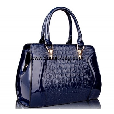 Womens crocodile PU leather fashion design tote handbag WT-171