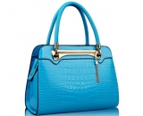 Fashion design blue PU leather handbag WT-172