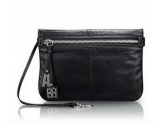 Fashion design black genuine leather messenger bag for women WM-059