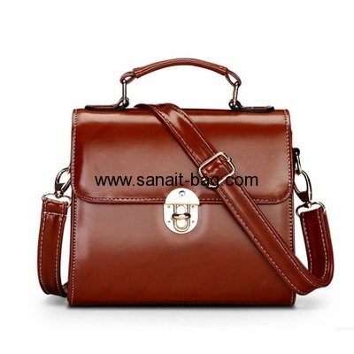 Fashion design PU leather cross body tote handbag for women WT-177