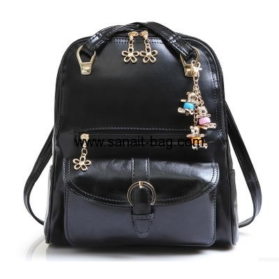 2016 stylish cute pu leather lady backpack fashion girls school backpack bag  with laptop compartment WB-088 8aee6c36bbe2d