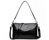 Hot sale fashion croco pu leather lady bag / lady messenger hand bag WM-067