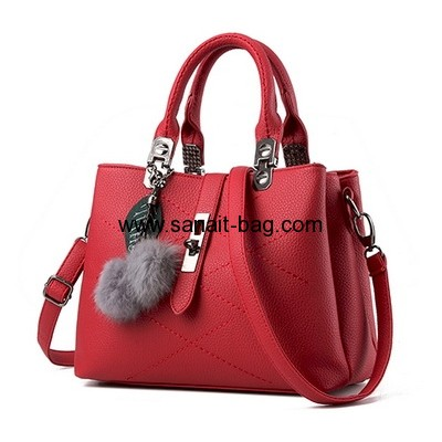 Factory hot selling lady bag pu leather handbag fashion bag WT-217