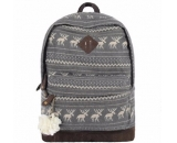 Customized canvas bag school bag backpack for girl WB-123