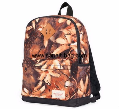 Wholesale canvas school bag new design school bag school backpack WB-125