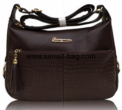 China bag supplier custom shoulder bag polyurethane handbags WT-316