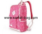 Bag factory custom printed canvas bags school backpacks for girls WB-149
