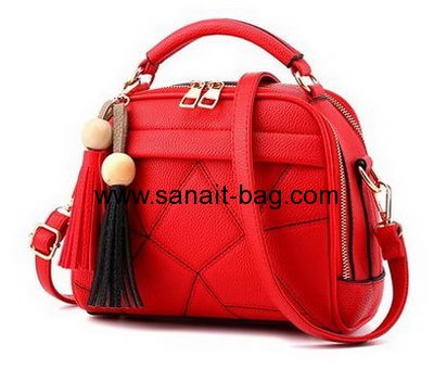 Bag manufacturers customize red handbags cute tote bags WT-343