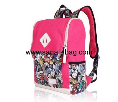 Backpack manufacturers customize canvas backpack school bags for teenage girls WB-151