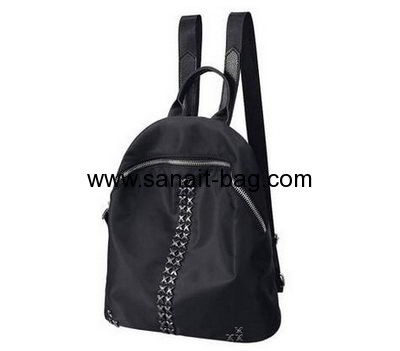 Backpack manufacturers customize black canvas backpack school book bags WB-154