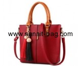 Custom leather bag manufacturers wholesale red handbags for ladies WT-356