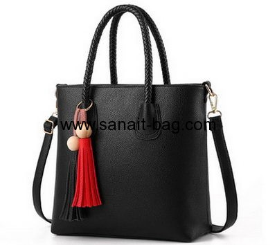 Supplier of bags customize black PU leather handbags WT-351
