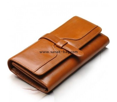 Shiny cow leather wallet for women