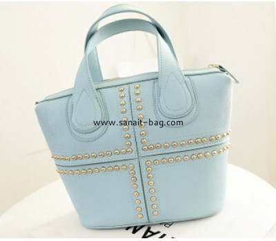 Women PU tote handbag with rivit ornament WT-013