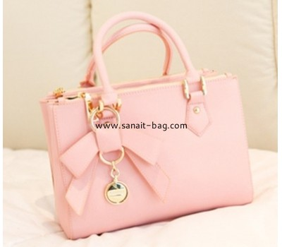 Young ladies pu handbags with butterfly ornament WT-019