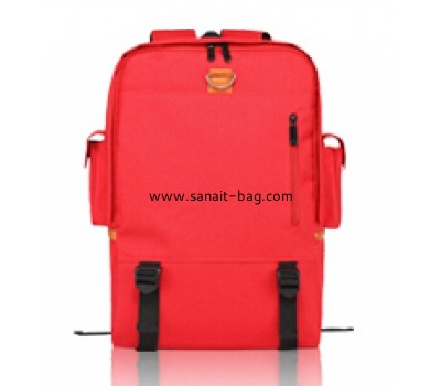 Ladies nylon backpack with cell for laptop WB-015