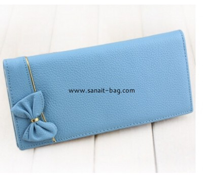 Ladies leather wallet with butterfly decoration WW-003