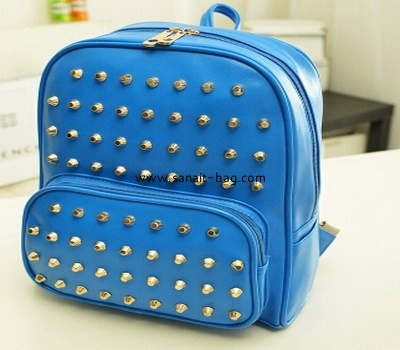 Fashion young women PU backpack surface with stud WB-008